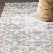 gray u0026 silver rugs you u0027ll love wayfair