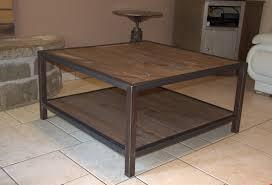 Table De Salon Industrielle by Table Basse Salon Bois Et Fer U2013 Ezooq Com