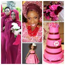 colour themes for nigerian wedding nigerian wedding colors burgundy and pink