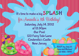 Make A Invitation Card Pool Party Birthday Invitations Plumegiant Com