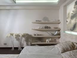 Bedroom Headboard Wall Unit Foxy Design Ideas Using Rectangular White Wooden Wall Shelves And
