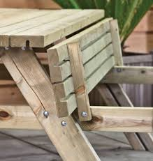 picnic table to bench bench decoration