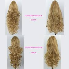 4 Piece Clip In Hair Extensions by Ponytail Clip In Hair Piece Golden Blonde 26 Reversible 4 Styles