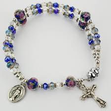 rosary bracelet blue magnetic rosary bracelet the catholic company