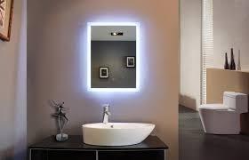 Led Lighted Mirrors Bathrooms Mirror Design Ideas Blue Digital Bathroom Mirror With Led Lights