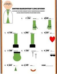 halloween math long division worksheets 2 digit by 1 digit