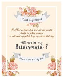 bridesmaid invitations template bridesmaid card template photos exle resume ideas