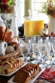 thanksgiving continental breakfast vignette morning breakfast
