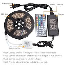 Led Strip Lights Remote Control by Amazon Com Ihomy 16 4ft Led Flexible Light Strip Rgb 300 Leds