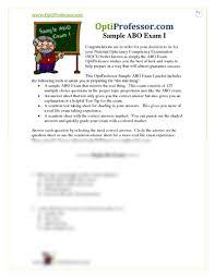 Sample Abo Exam Pdf At Pima Medical Institute Studyblue