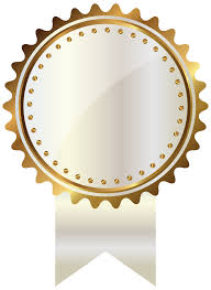 Seal Ribbon White And Gold Seal With Ribbon Png Clipart Image Gallery