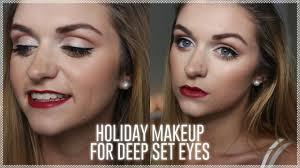holiday makeup for deep set eyes itsmizmadz
