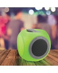 eluma lights speaker system brookstone eluma cube color changing led bluetooth speaker from