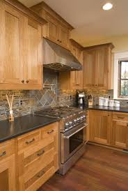 Hickory Wood Kitchen Cabinets Love The Darker Floor Darker Counter Tops Look Good I Just Don U0027t