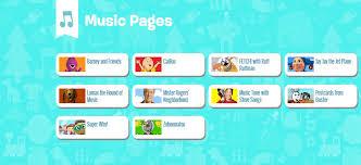 pbs kids music kids websites