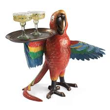 Parrot Decorations Home by Drink Serving Parrot Butler The Green Head