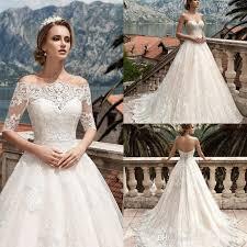 corset wedding dresses discount 2017 shoulders a line wedding dresses lace