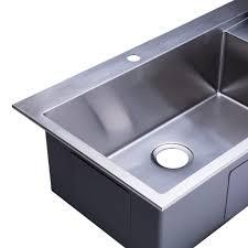 Kitchen Sink Top Bai 1233 48 Stainless Kitchen Sink Single Bowl Drainboard 16