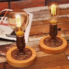 Edison Bulb Table Lamp 2017 Edison Bulb Table Lamp American Rural Solid Wood Deco
