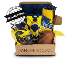 Michigan Gift Baskets Michigan Memorabilia Gift Box Signed Michigan Mini Helmet