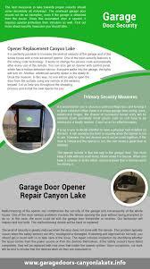 Overhead Garage Door Remotes by Door Repair Canyon Lake Infographic