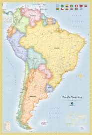 Colombia South America Map by South America Satellite Image Giclee Print Topography Bathymetry