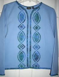 sweatshirt jacket made using borders made easy pattern 102 www