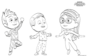 pj maskss pajama heroes coloring pages printable