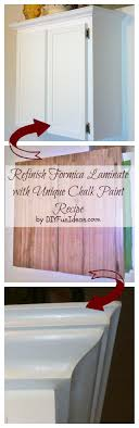 can i use chalk paint on laminate cabinets how to refinish formica cabinets unique chalk paint recipe