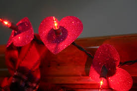 valentines day lights before putting away christmas supplies think about s