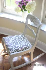 duncan phyfe carved rocking chair makeover general finishes paint