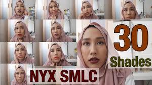 light medium skin tone nyx soft matte lip creme smlc all 30 shades swatches for light