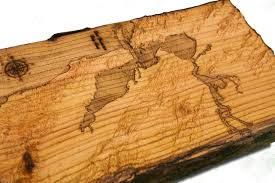 california wood san francisco bay area topographical map from a live edge