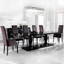 Large Ebony Dining Table Set Juliettes Interiors