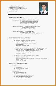 Resume Vitae Sample by 7 Curriculum Vitae Format For Job Application Medical Report
