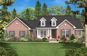 one story house plan with three exterior options 11716hz