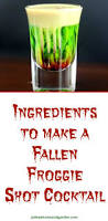 how to make a fallen froggie shot recipe for halloween