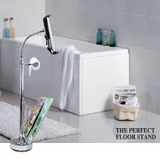 Magazine Rack Bathroom by Bathroom Tablet Stand With Toilet Holder And Magazine Rack Silver
