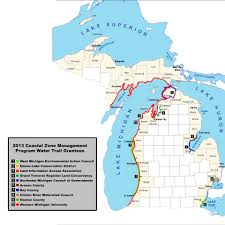 Michigan Lighthouses Map by Deq Coastal Zone Management Program Announces 342 141 In Water