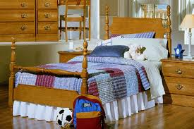 adorable image of bedroom design and decoration using solid oak