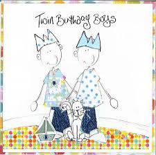 twin boys birthday card tr twins birthday cards age 1 80