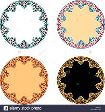 vector islamic circle ornaments open source stock vector