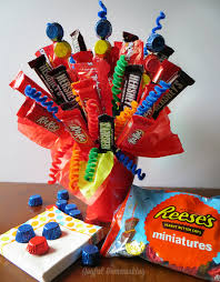 How To Make A Candy Bouquet Make A Birthday Candy Bouquet Joyful Homemaking