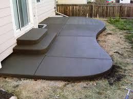 Concrete Patio Ideas Backyard Backyard Landscape Design - Concrete backyard design ideas