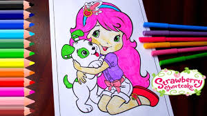 strawberry shortcake coloring pages videos for children