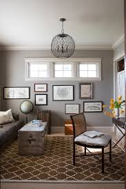 dove gray paint home office contemporary with gray wall eclectic