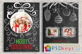 christmas card template 459239 free download photoshop vector