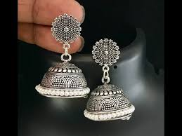 metal earings beautiful black metal jhumkas