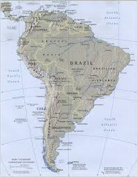 Map Of South America And North America south america relief map relief map of south america south