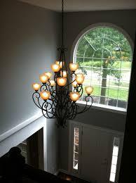 Foyer Chandelier Height Lighting For 2 Story Foyer